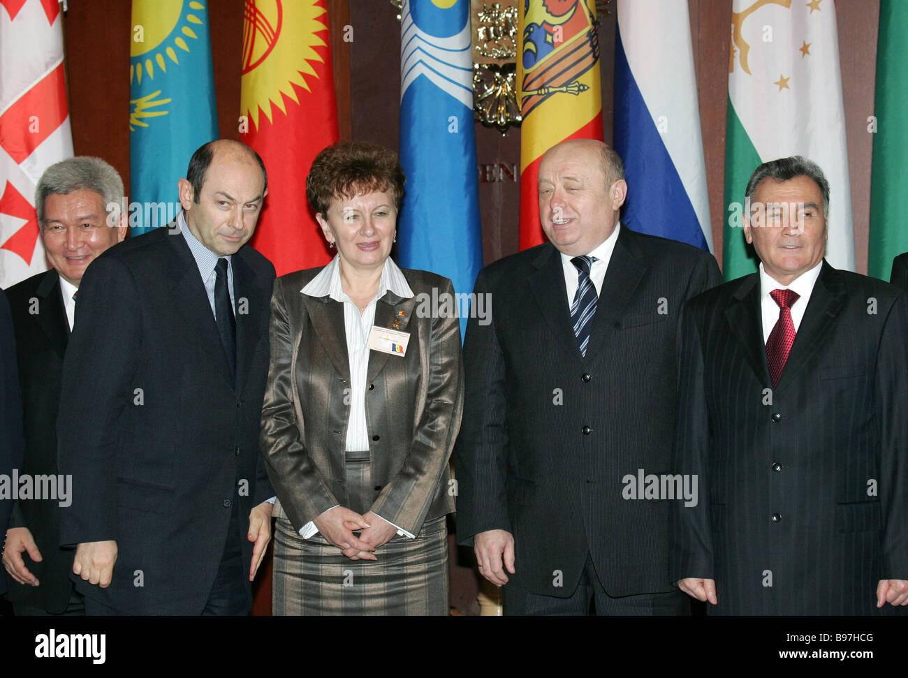 Prime Minister of Kyrgyzstan Felix Kulov CIS Executive Secretary Vladimir Rushailo Vice Premier of the Republic - Stock Image