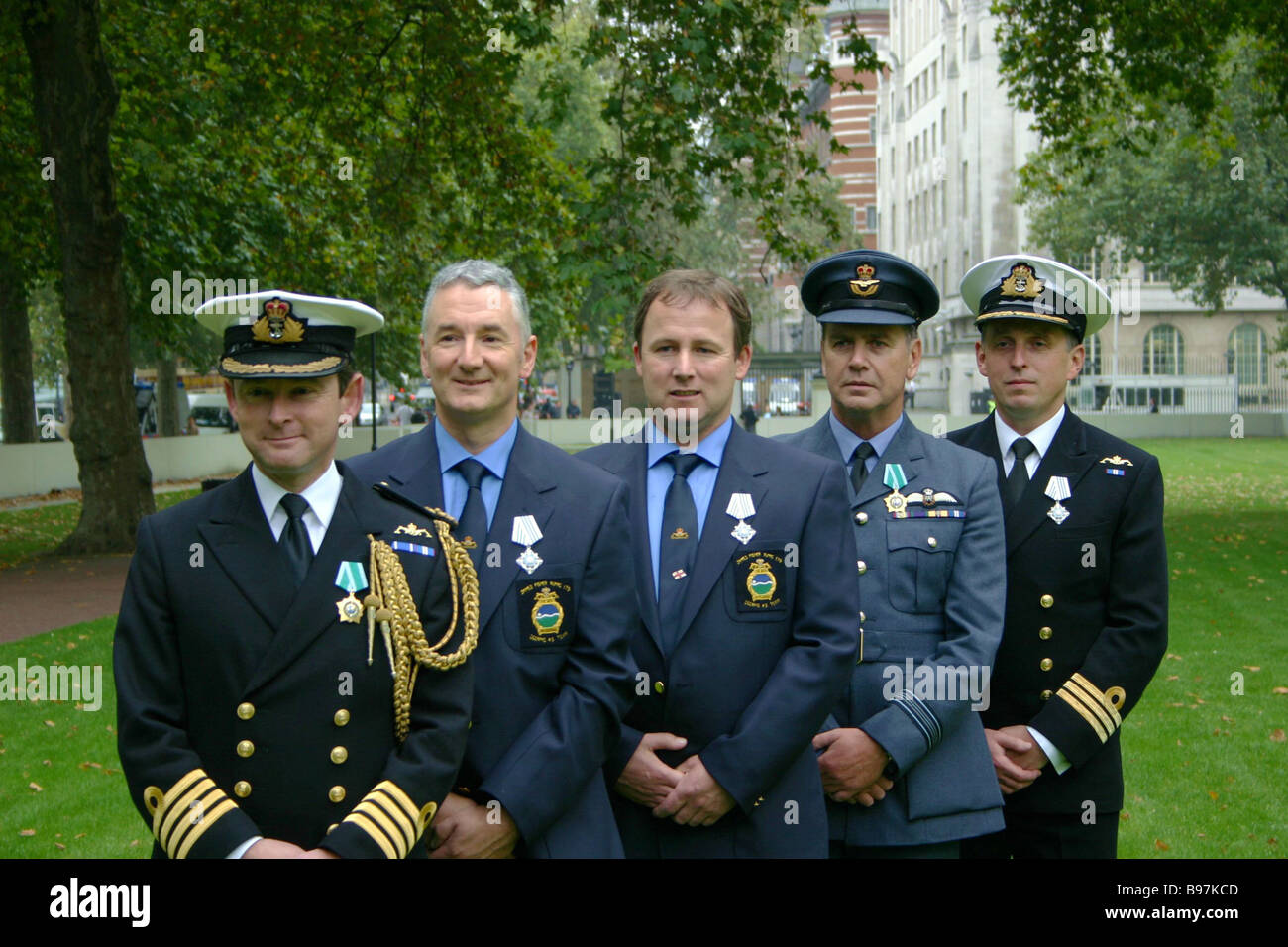 The British rescue team after receiving state awards from Russian President Vladimir Putin for helping save the - Stock Image