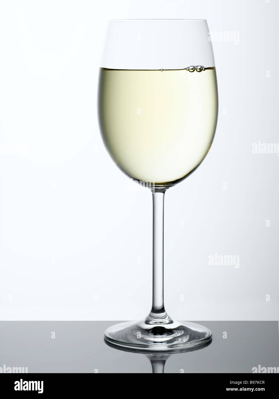 white wine - Stock Image