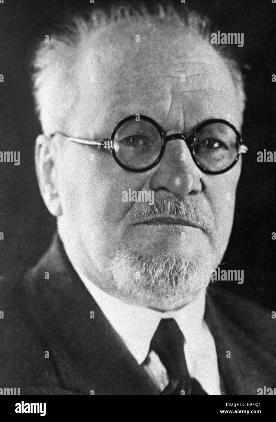 Soviet physicist Dmitry Rozhdestvensky 1879 1940 - Stock Image