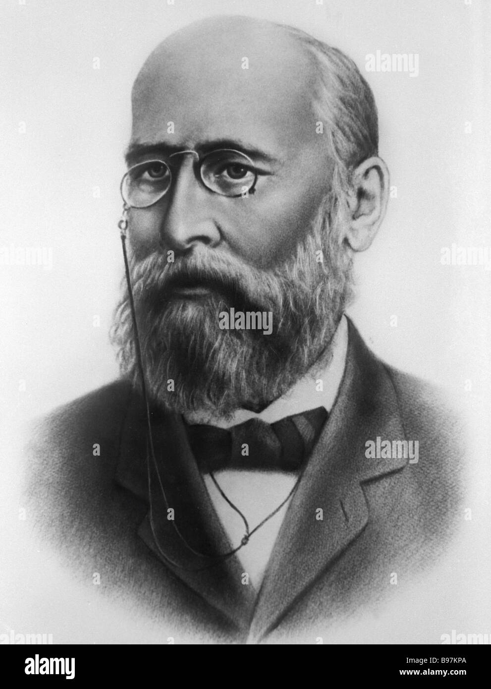 Russian chemist Alexander Butlerov 1828 1886 - Stock Image