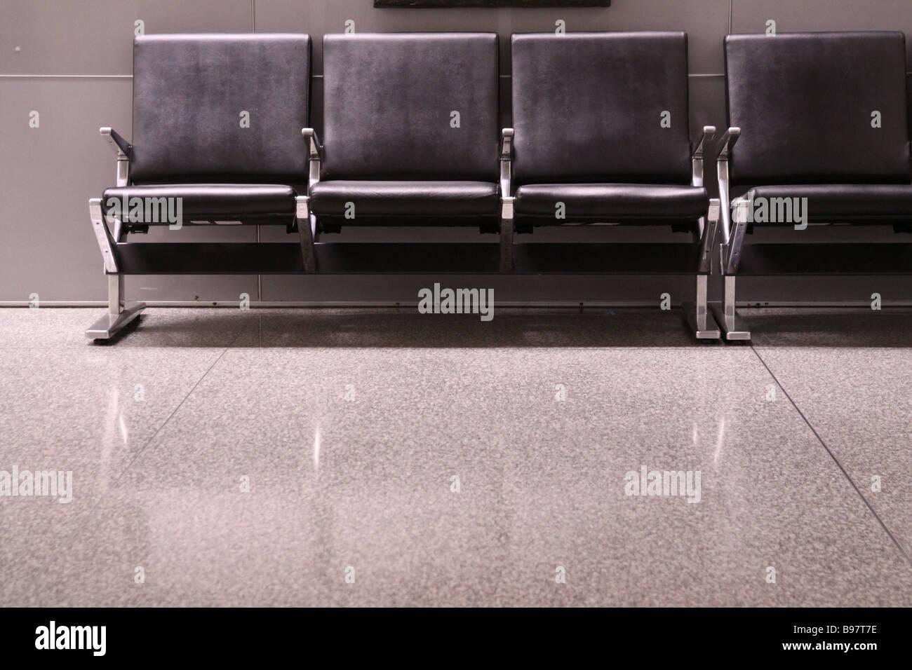 sfo terminal seats - Stock Image