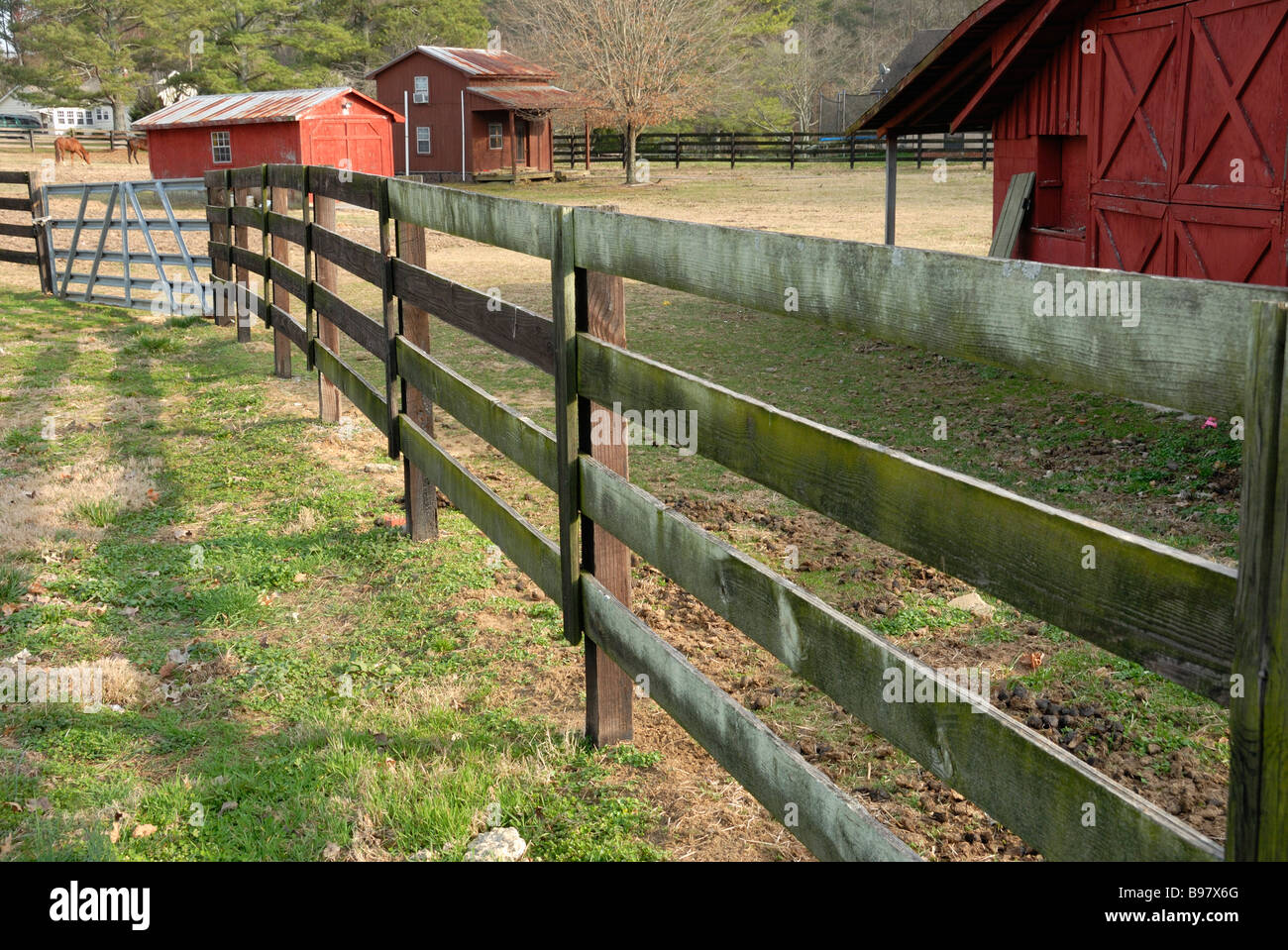 Barnyard And Fence Stock Photo 22916504