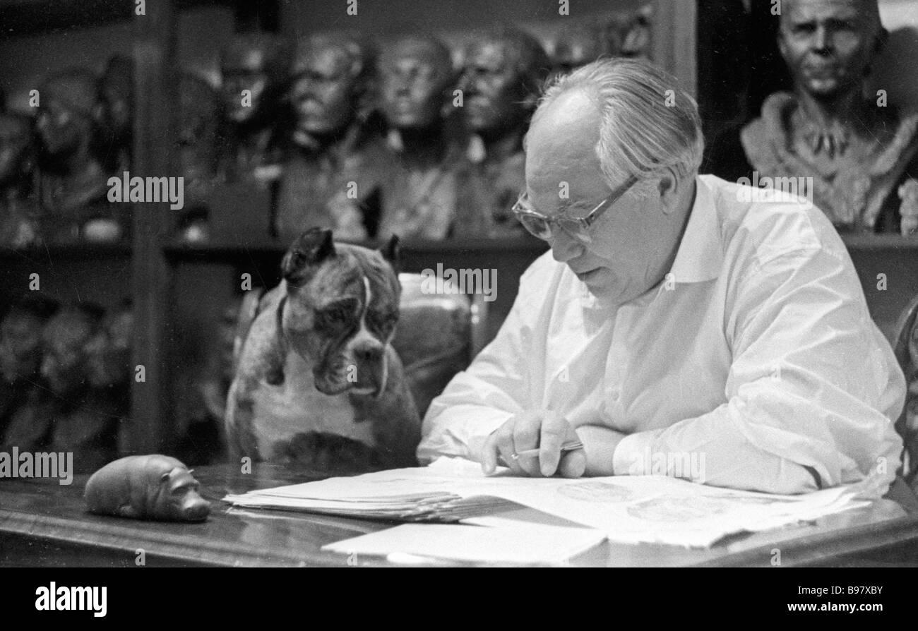 Mikhail Gerasimov Soviet anthropologist and sculptor - Stock Image