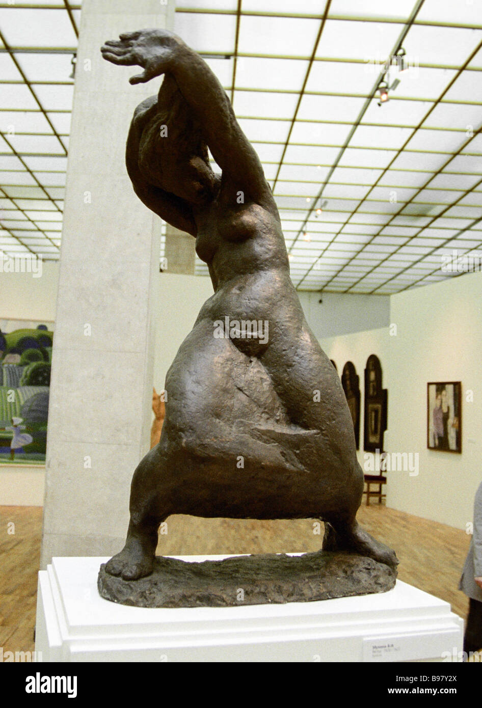The Wind sculpture by Vera Mukhina at the exhibition Feminine Art in the Tretyakov State Gallery - Stock Image