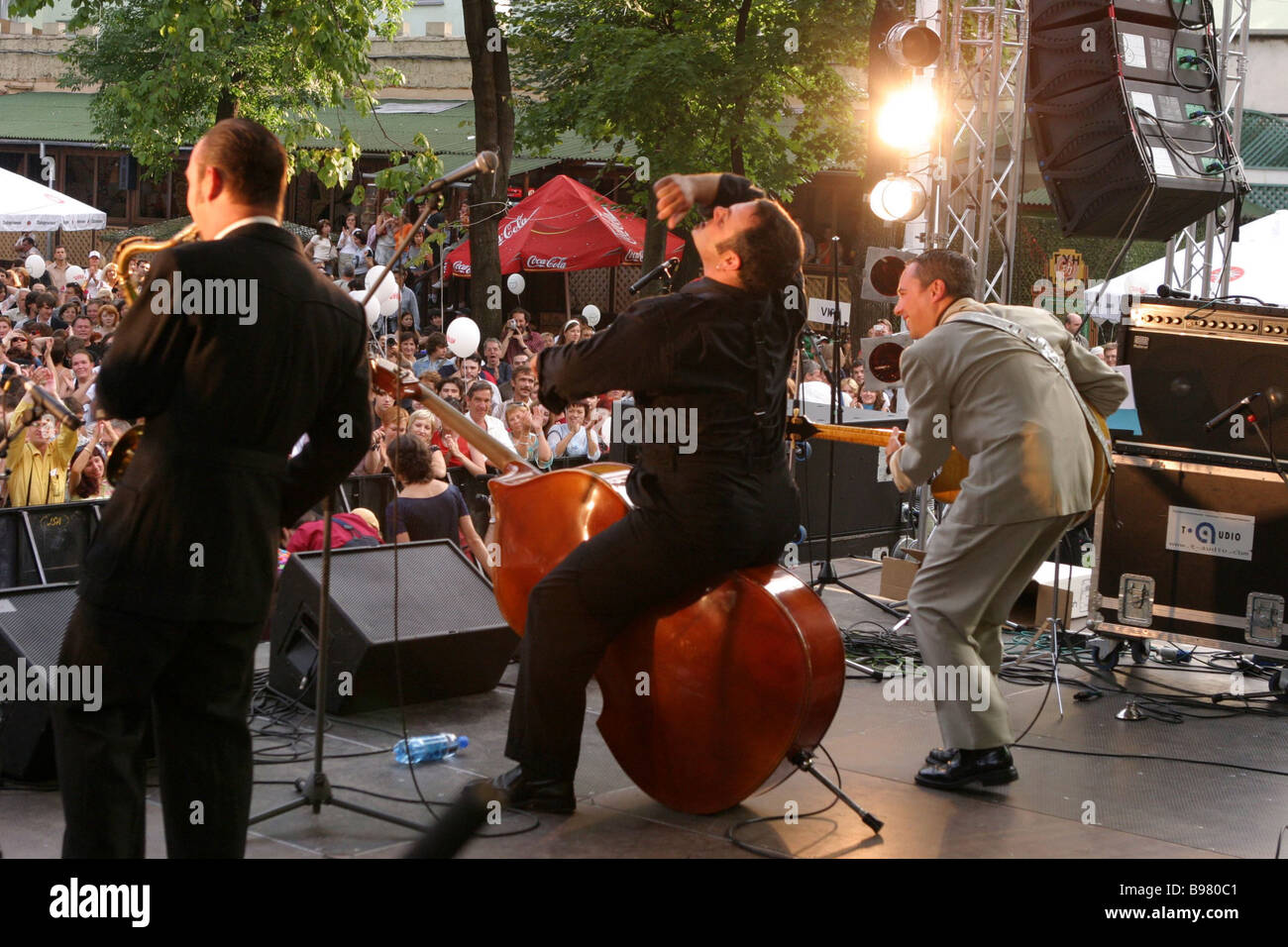 The Dance festival offered live music of many styles nations and centuries Several thousand enjoyed it all day long - Stock Image