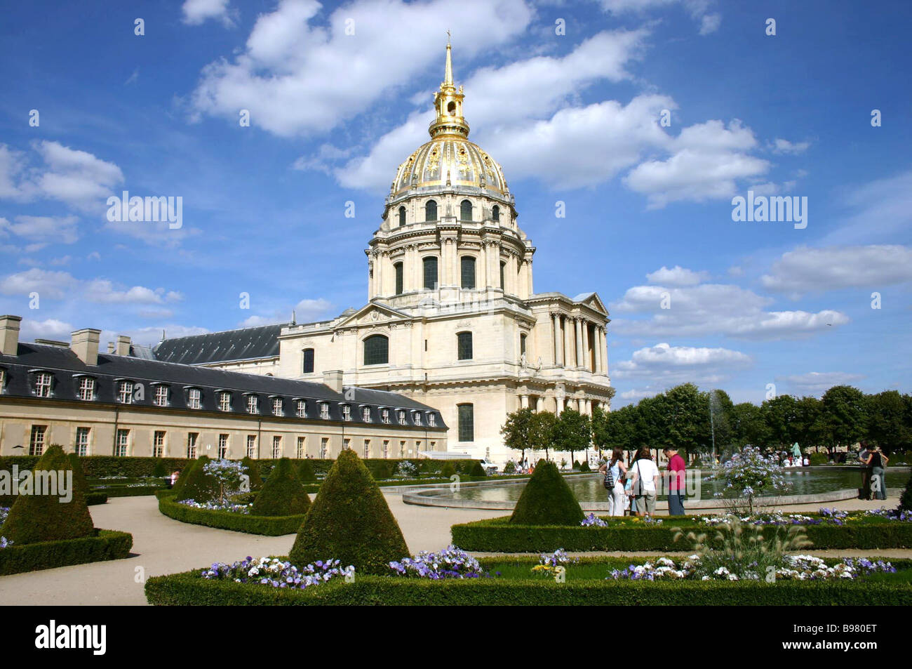 King Louis XIV ordered the complex of the Hotel des Invalides built as hospital for soldiers crippled in the war - Stock Image