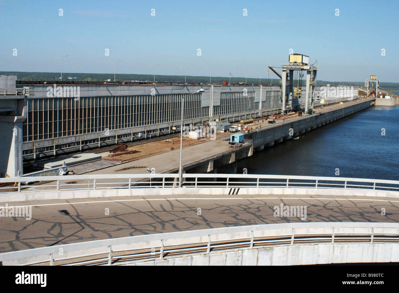 The Nizhnekamsk hydro electric station - Stock Image