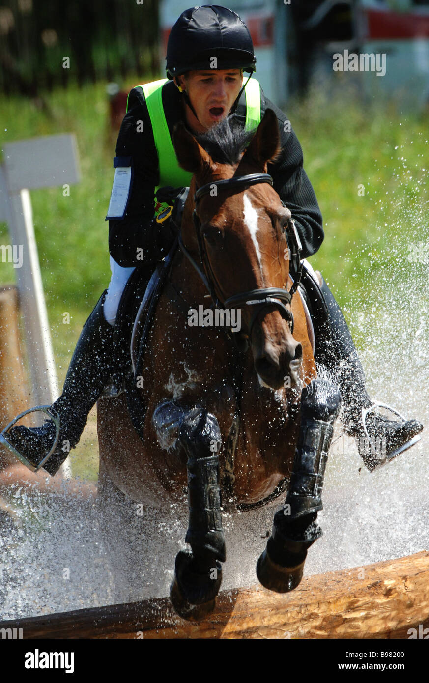 The Eventing World Cup at the Planernaya sports center in the Moscow Region - Stock Image