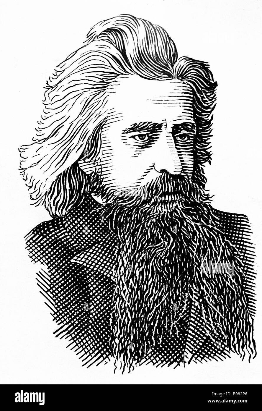 Vladimir Solovyev 1853 1900 major Russian idealist philosopher theologian journalist and Symbolist poet - Stock Image