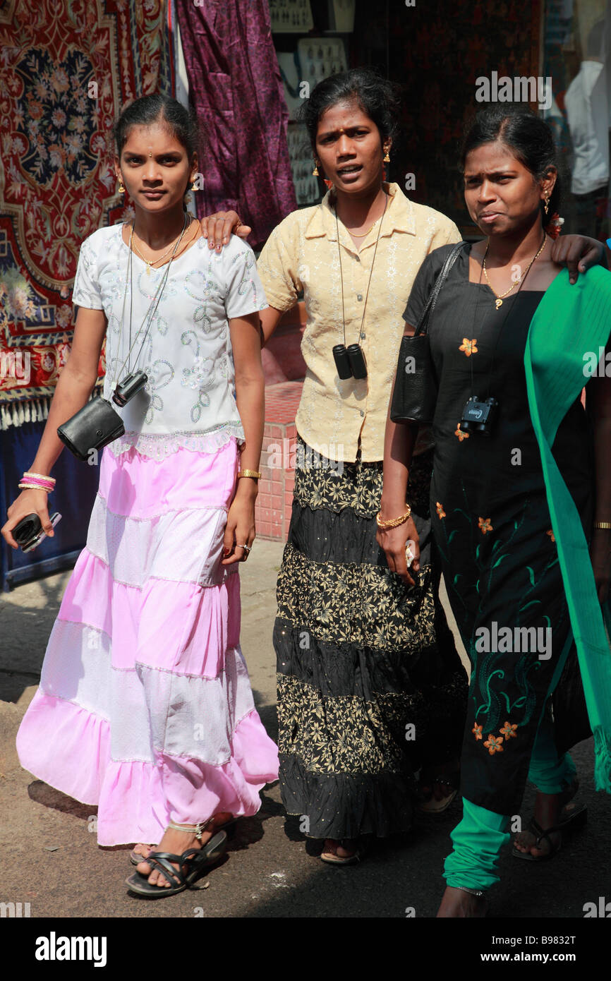 India Kerala Kochi Mattancherry Jew Town women - Stock Image