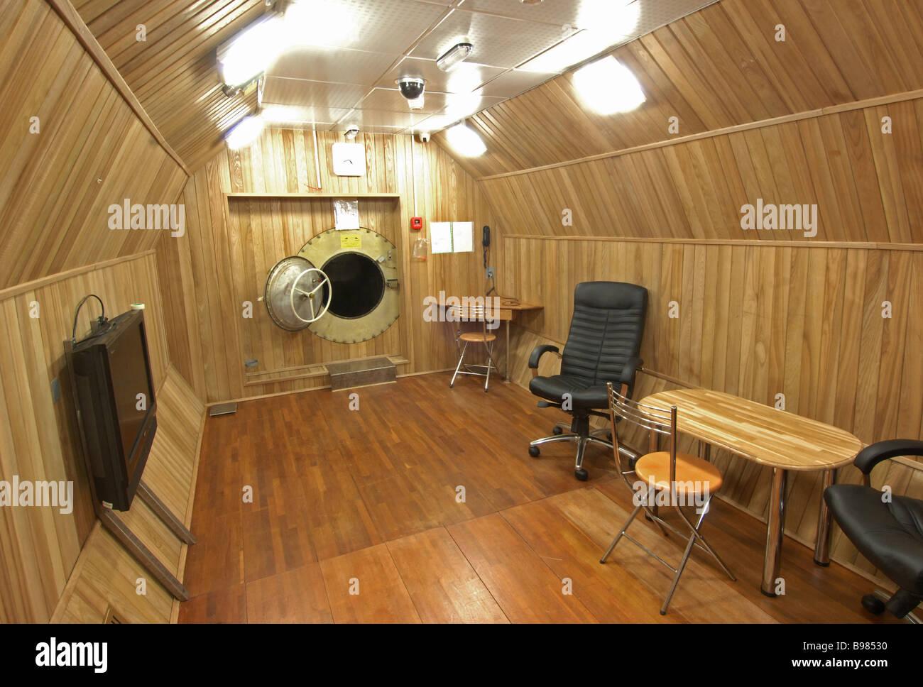 Community room Martian spaceship simulator - Stock Image
