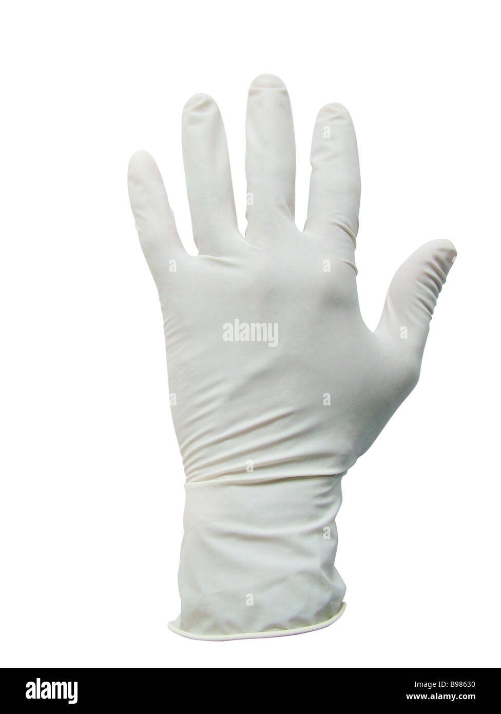 White rubber glove - Stock Image