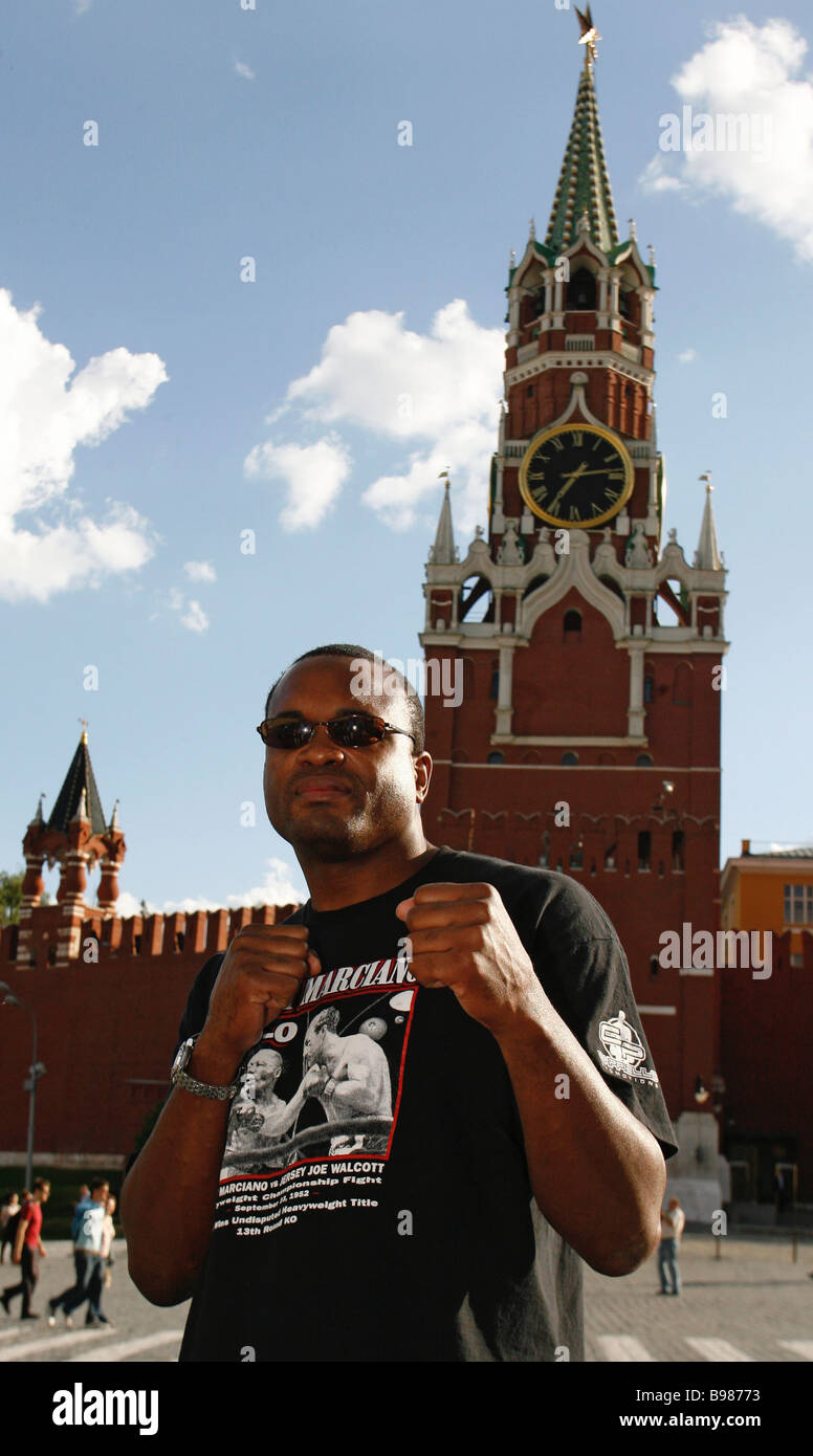 US super heavyweight Larry Donald in Moscow - Stock Image