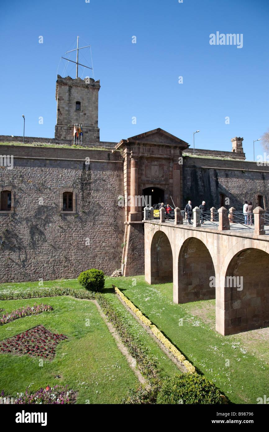 Castell de Montjuic Barcelona Spain - Stock Image