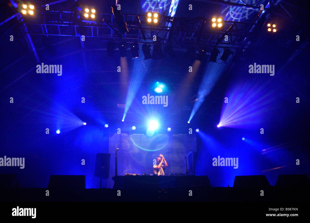 Fatboy Slim performs at Bestival. Isle of Wight. UK - Stock Image