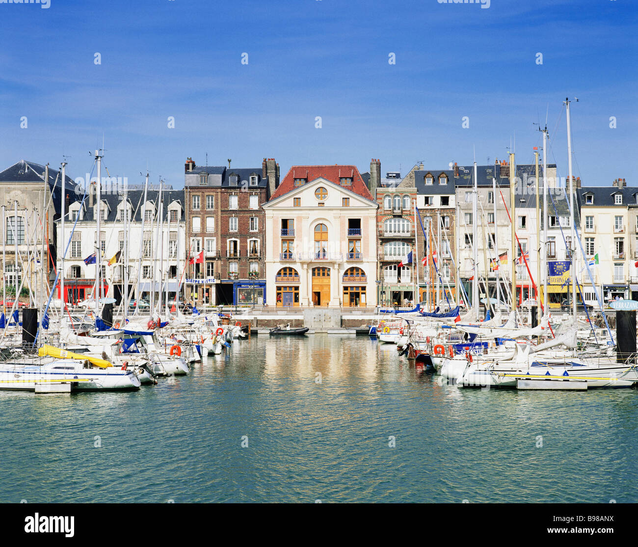 france normandy dieppe quai henry iv boats quayside stock photo 22926342 alamy. Black Bedroom Furniture Sets. Home Design Ideas