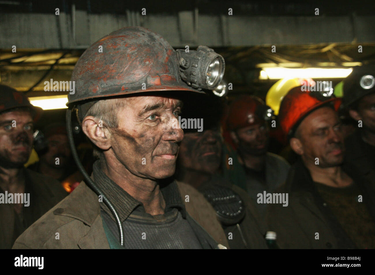 Ten people died out of 277 miners who were down the Vorkutaugol company s Komsomolskaya pit when it was hit by an Stock Photo