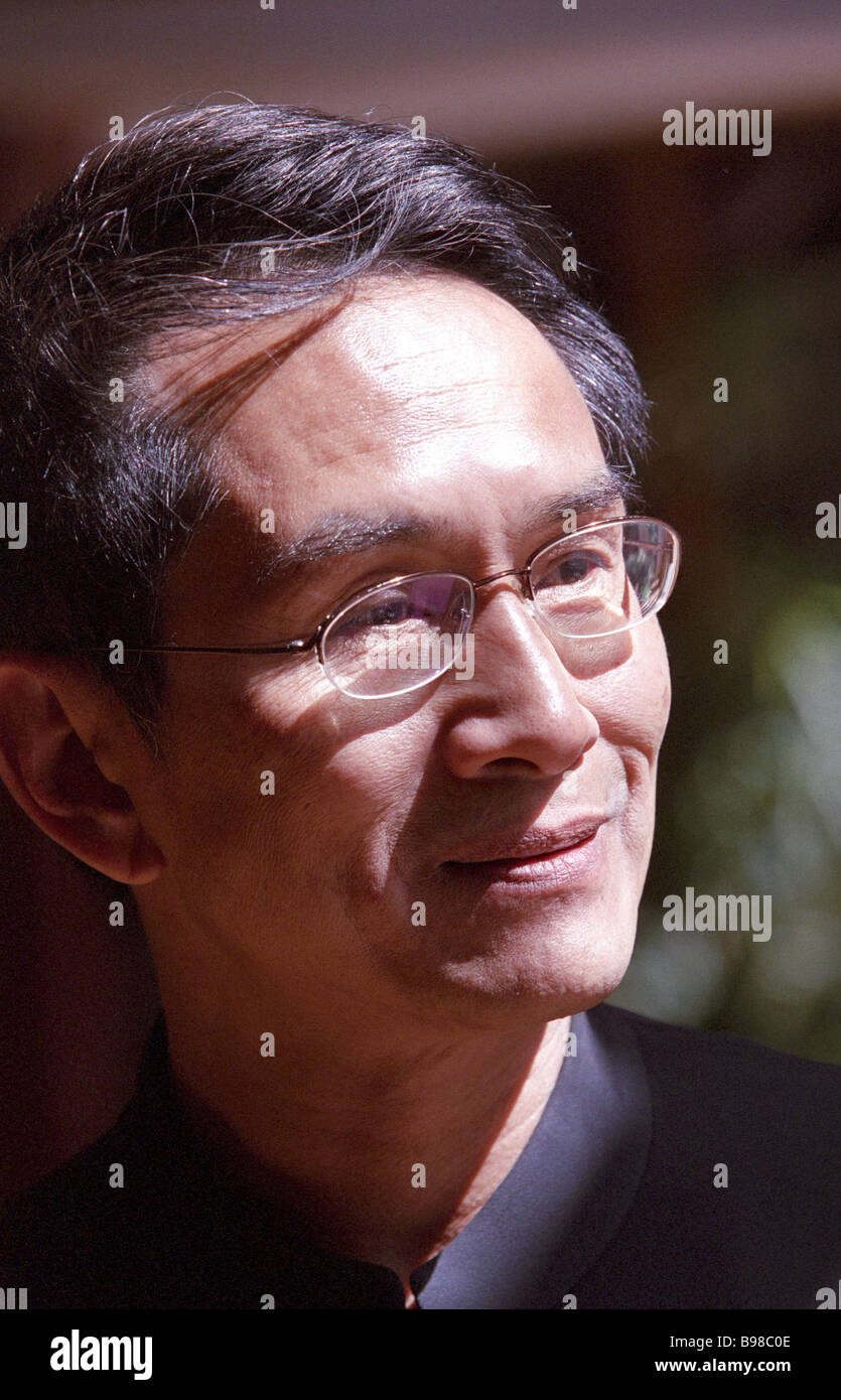 Lin Hwai min the founder and artistic director of the Cloud Gate Theater Taipei Taiwan taking part in the 6th Chekhov - Stock Image