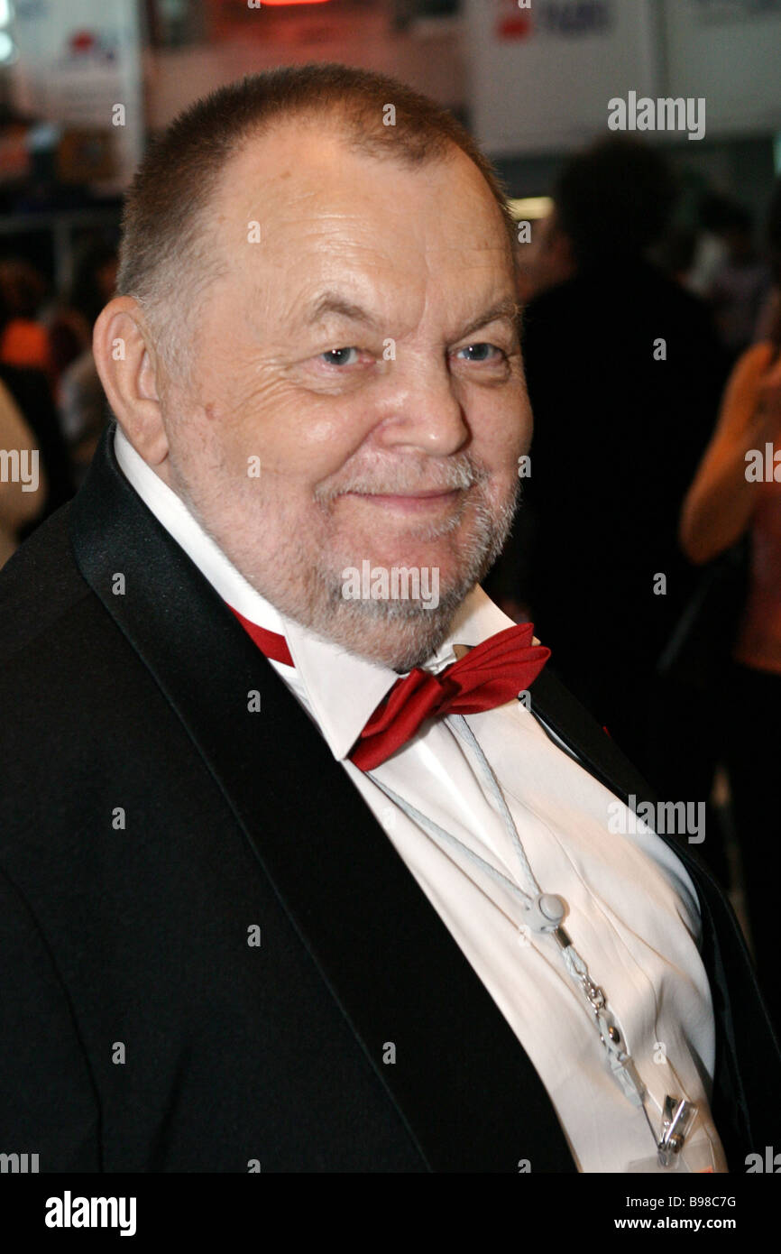 Script writer Vladimir Chernykh the chairman of the jury of the 27th Moscow international film festival at the festival - Stock Image