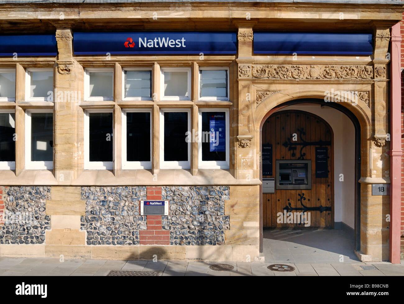 Natwest bank door - Stock Image
