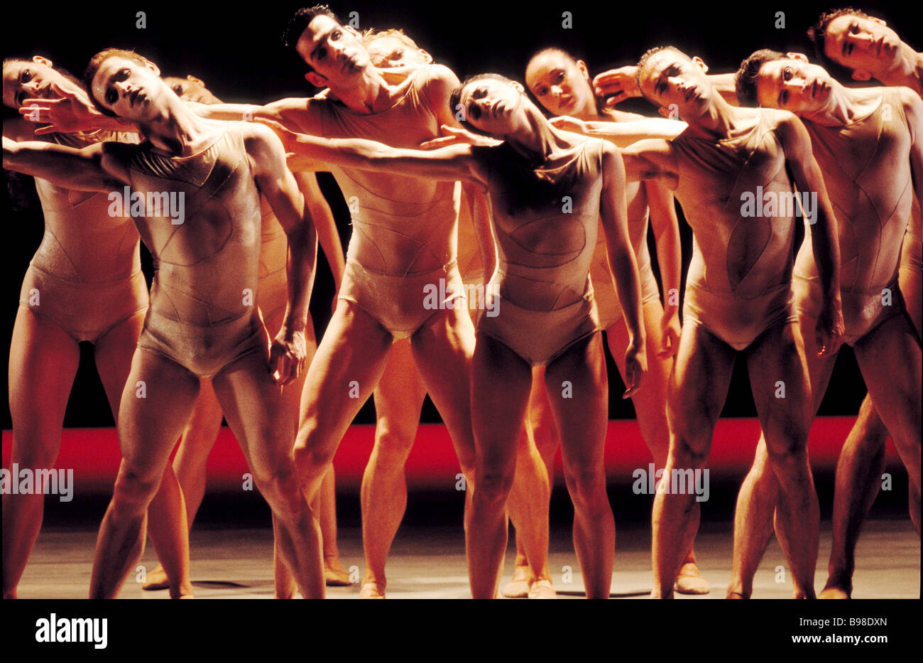 A scene from the ballet Creation presented by the national choreography center Ballet Biarritz France at the 6th Stock Photo