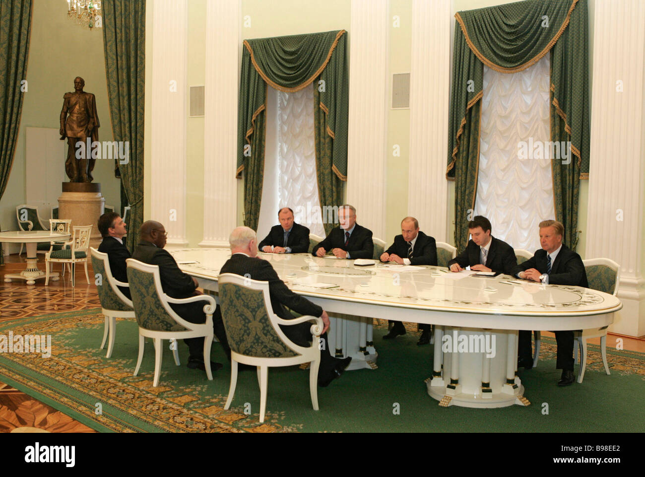 Russian President Vladimir Putin meeting with members of the International Olympic Committee in the Kremlin - Stock Image