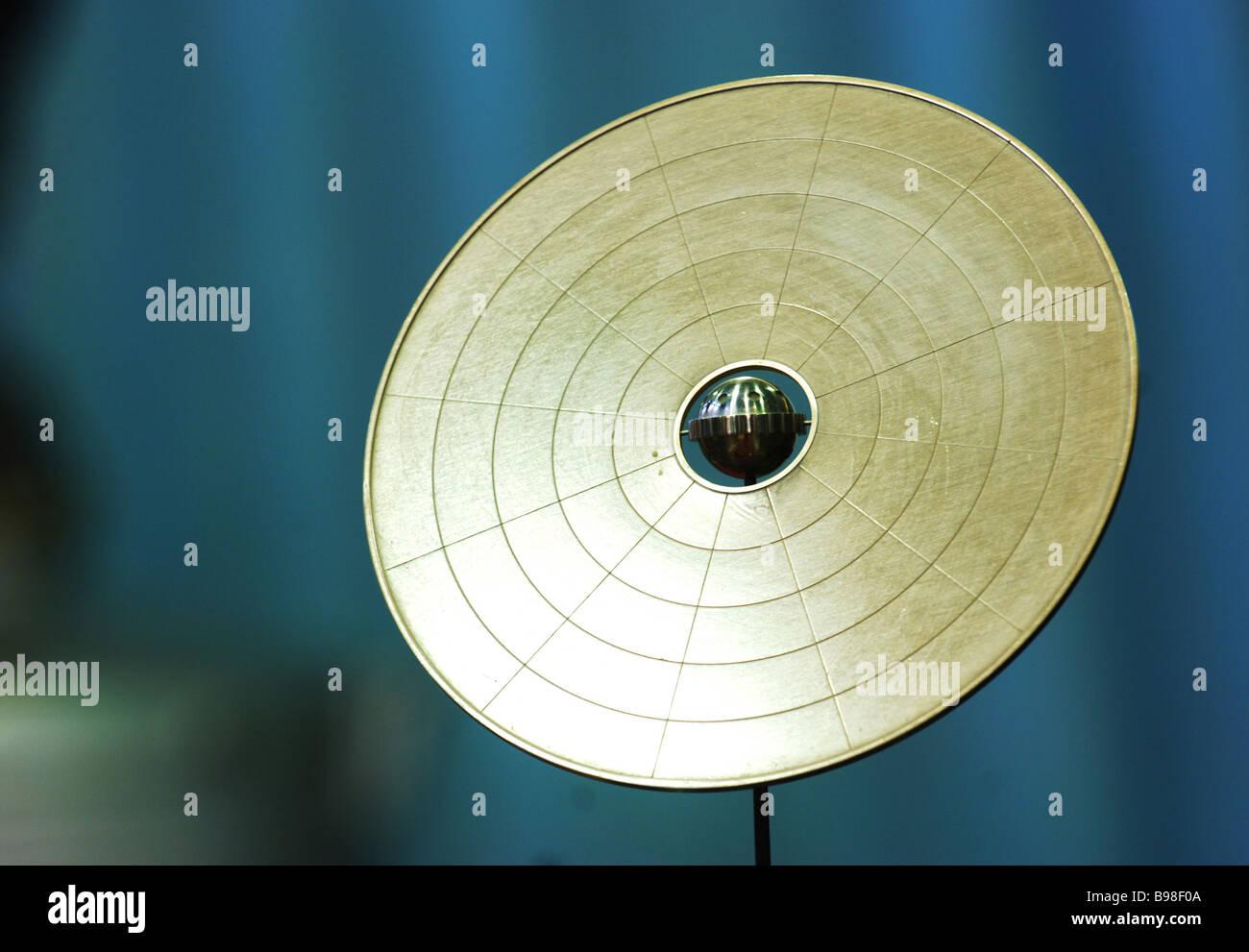 The interplanetary spacecraft Gelioraketoplan Valentin Glushko s graduation project is displayed at the Glushko - Stock Image