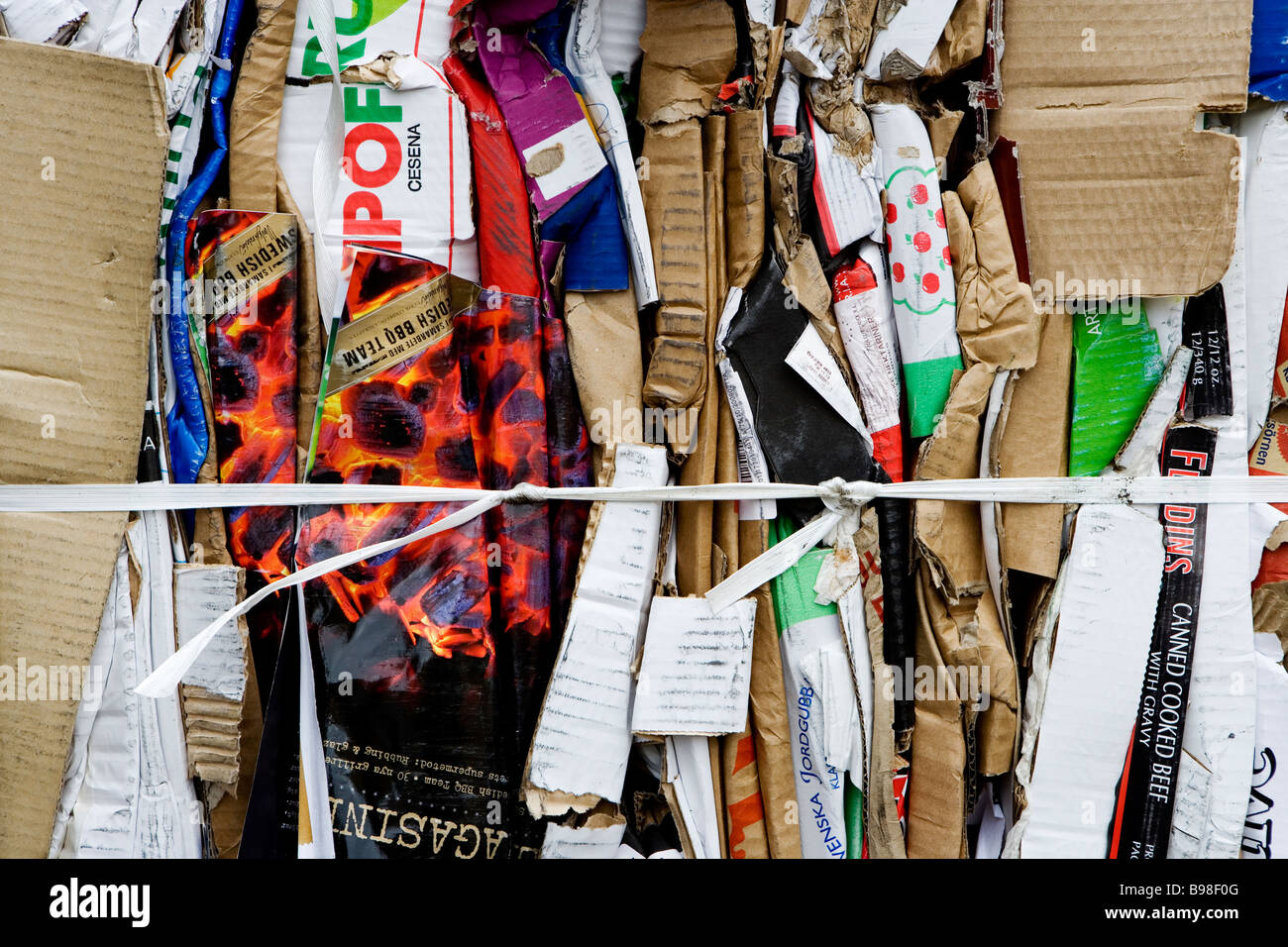 Pile of recycling paper. - Stock Image