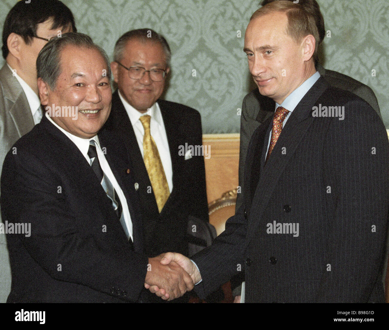 Juro Saito Delegation Chief Upper House Of The Japanese Diet Left And Stock Photo Alamy