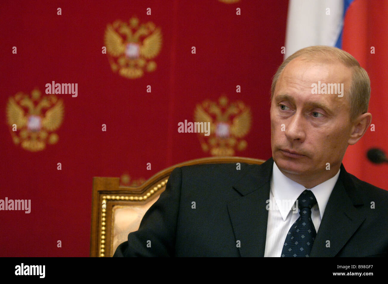 President of Russia Vladimir Putin in the Kremlin - Stock Image