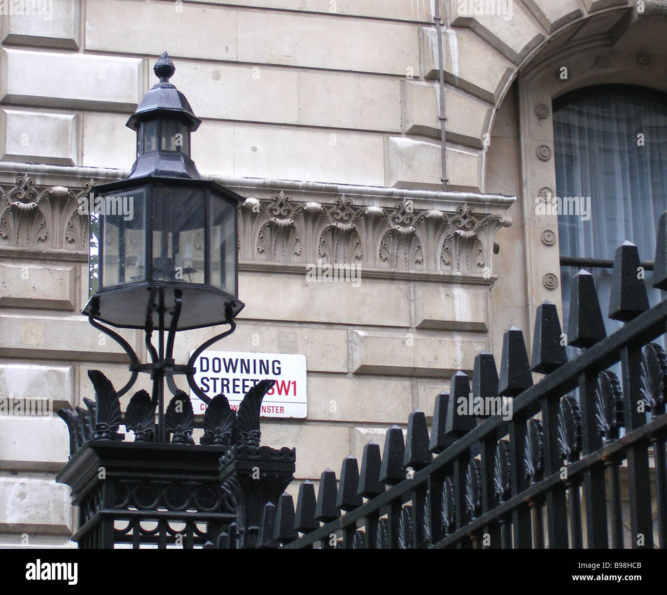 10 Downing Street the official residence of British Prime Ministers - Stock Image