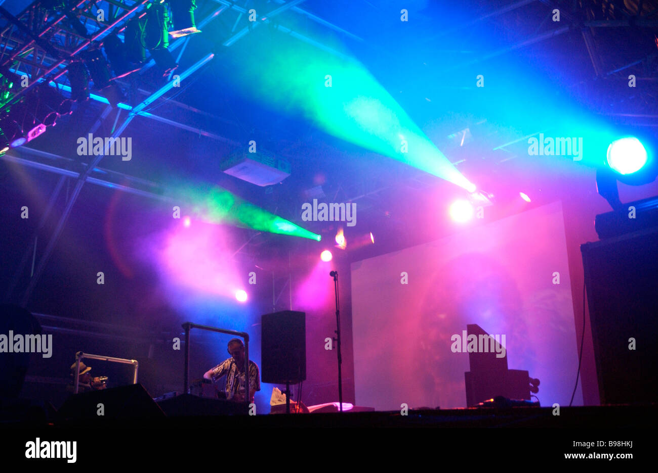 Fat Boy Slim performs at Bestival. Isle of Wight. UK - Stock Image