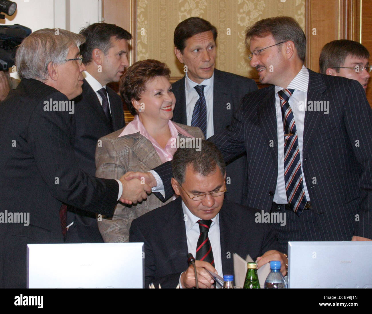 Cabinet members before the session of the Russian Government - Stock Image