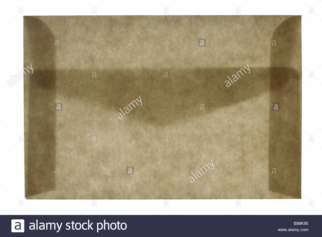 front view of a closed letter envelope - Stock Image