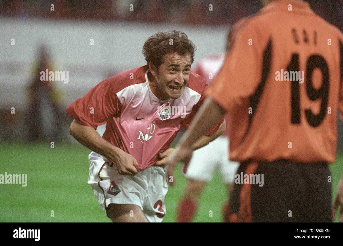 Mikhail Ashvetiya of Lokomotiv football team - Stock Image