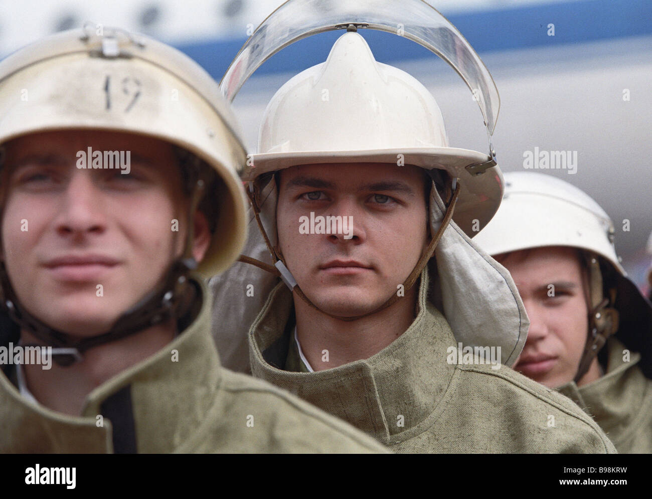 At the exhibition 21st Century Fire Safety - Stock Image