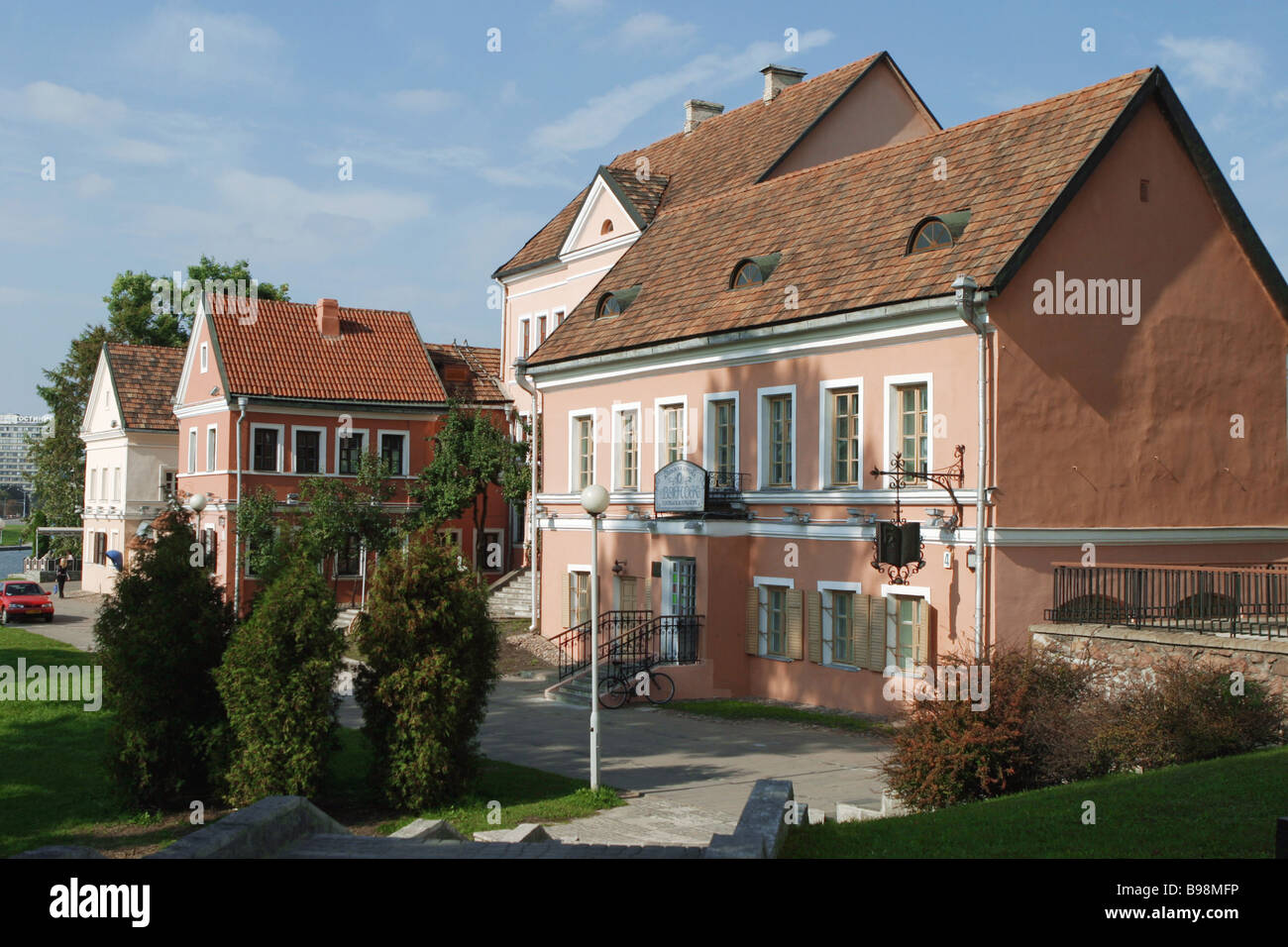 The Troitskoe suburb of Minsk - Stock Image