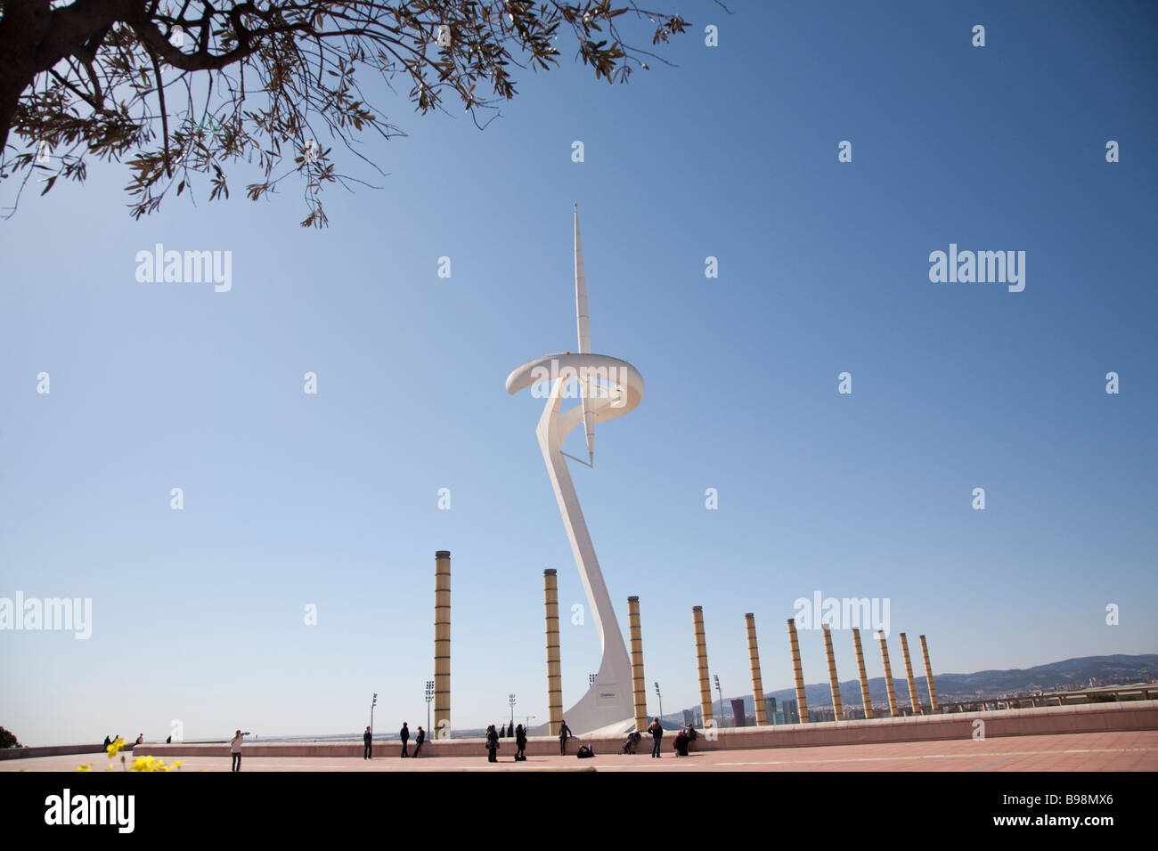 Olympic Ring Barcelona Spain - Stock Image