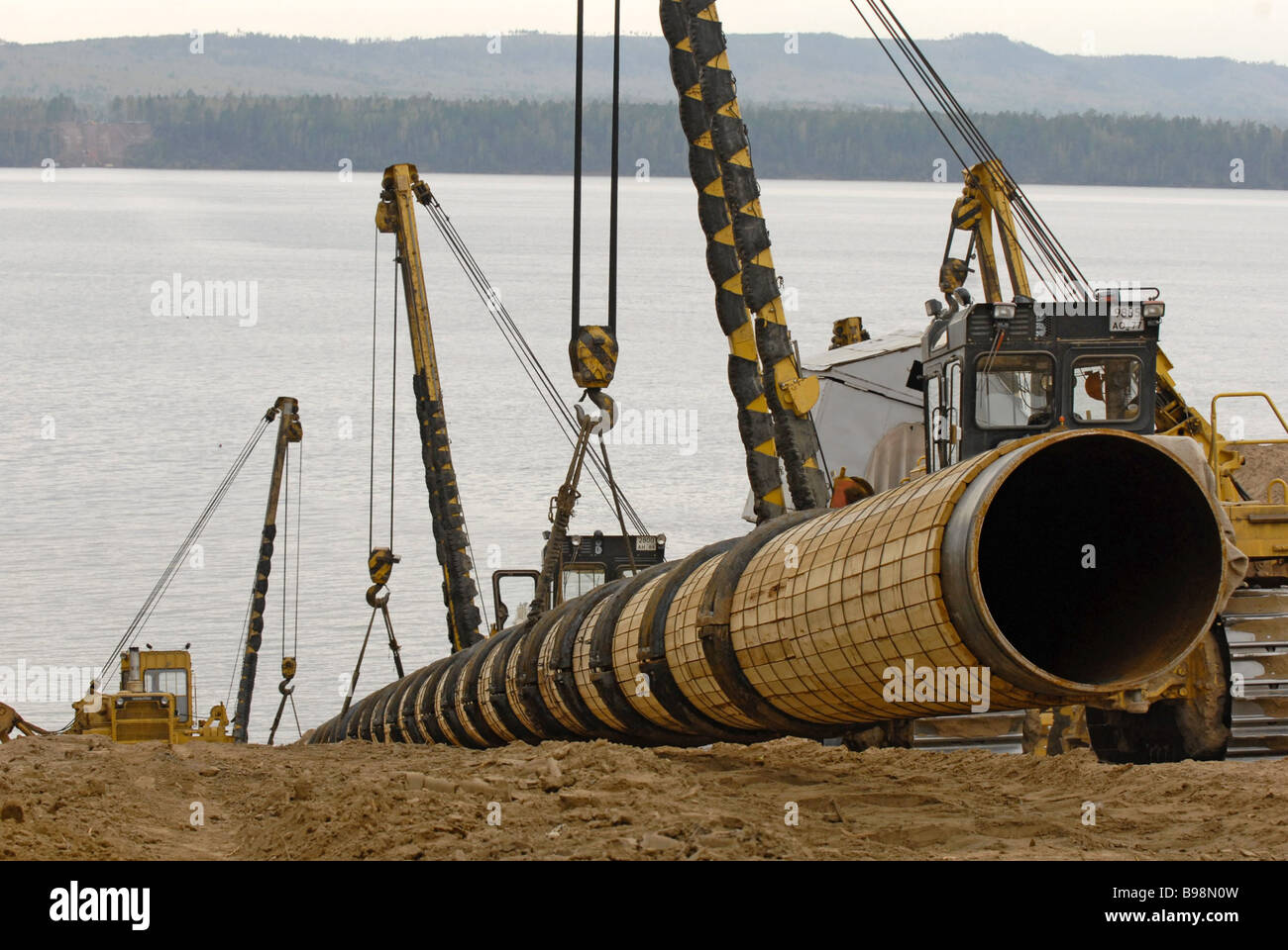 The construction of the East Siberia Pacific Ocean pipeline by the