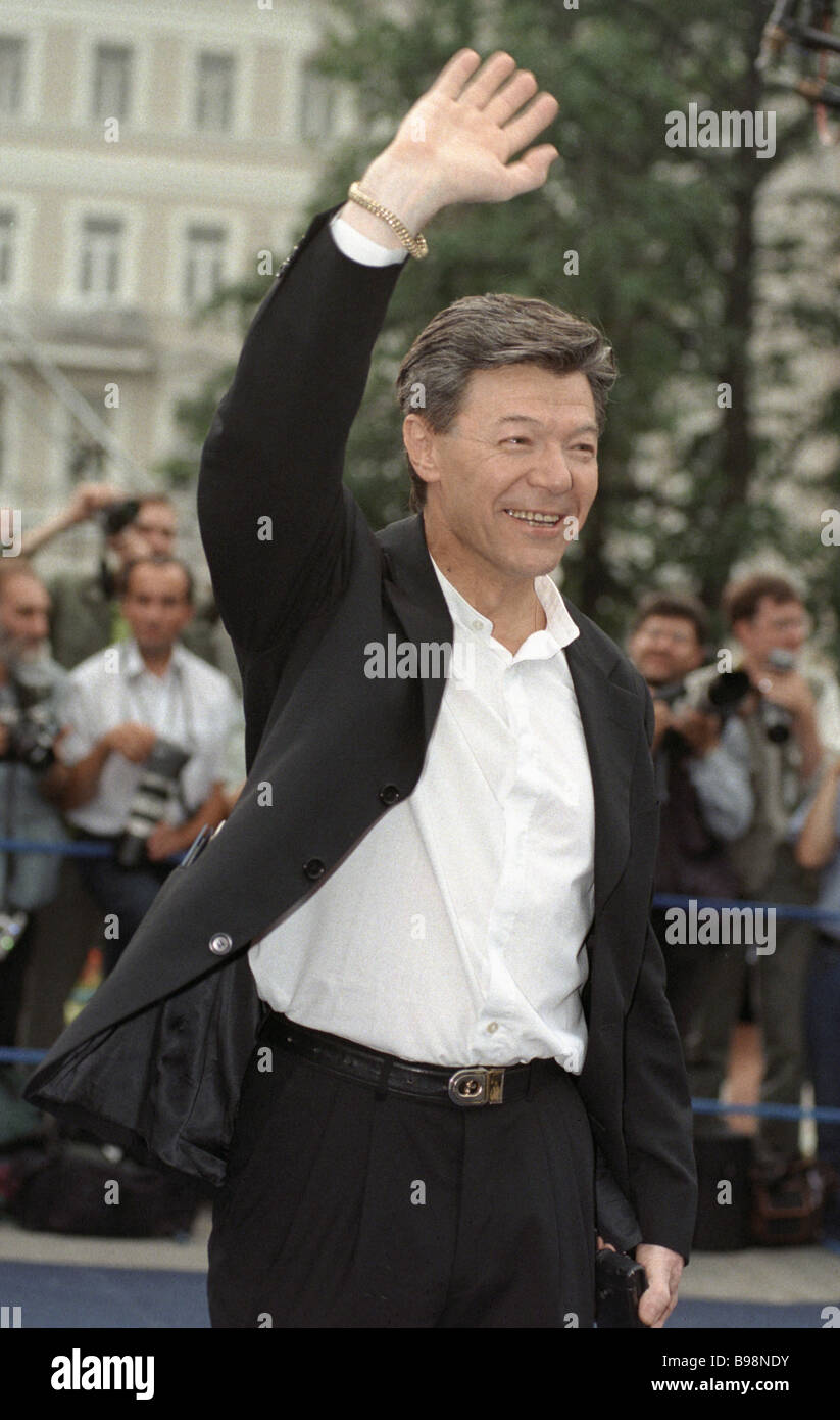 Theatre and film actor Alexander Zbruyev at the 21st Moscow International Film Festival - Stock Image