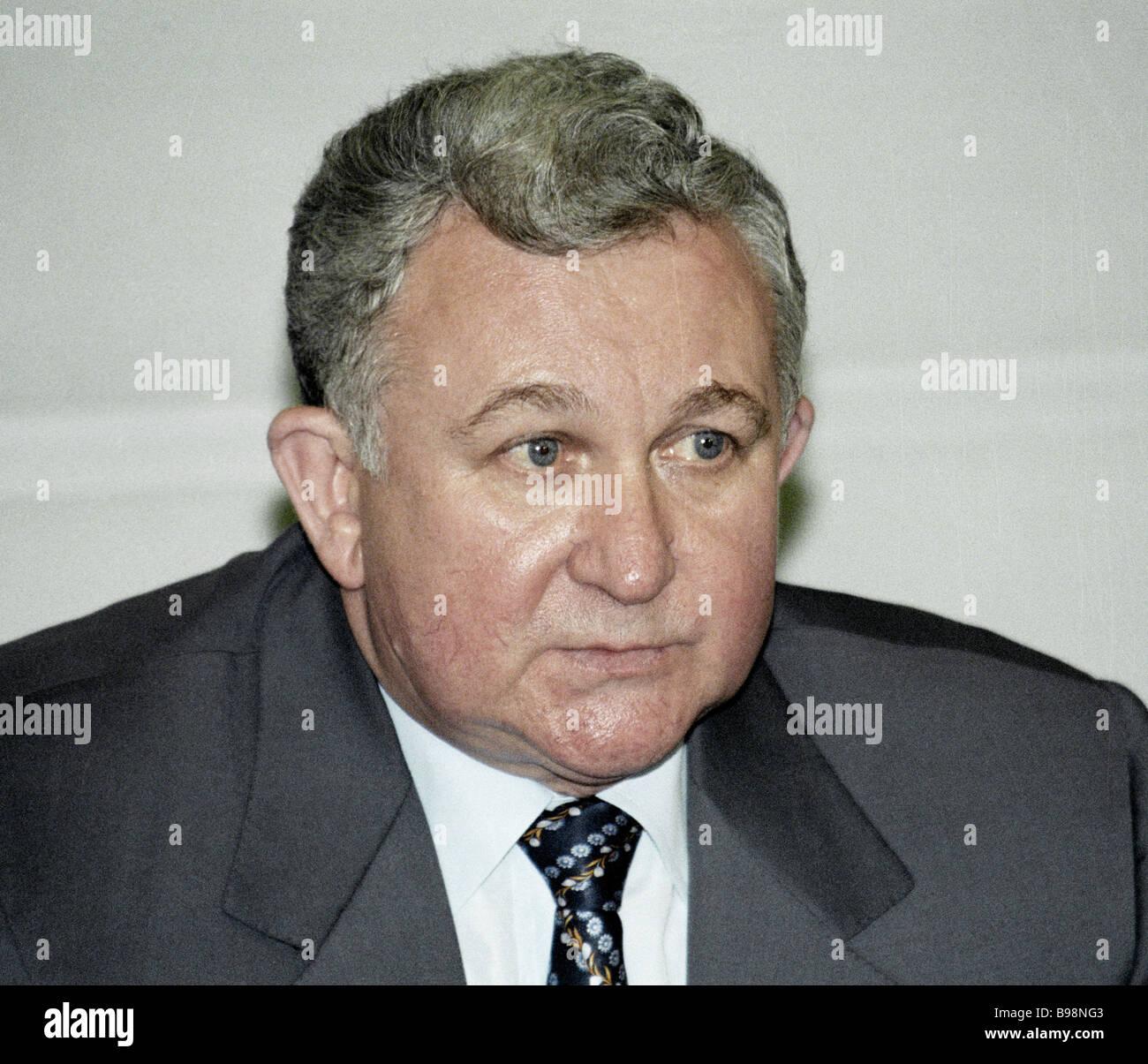The Russian Fisheries Committee chairman Nikolai Yermakov - Stock Image