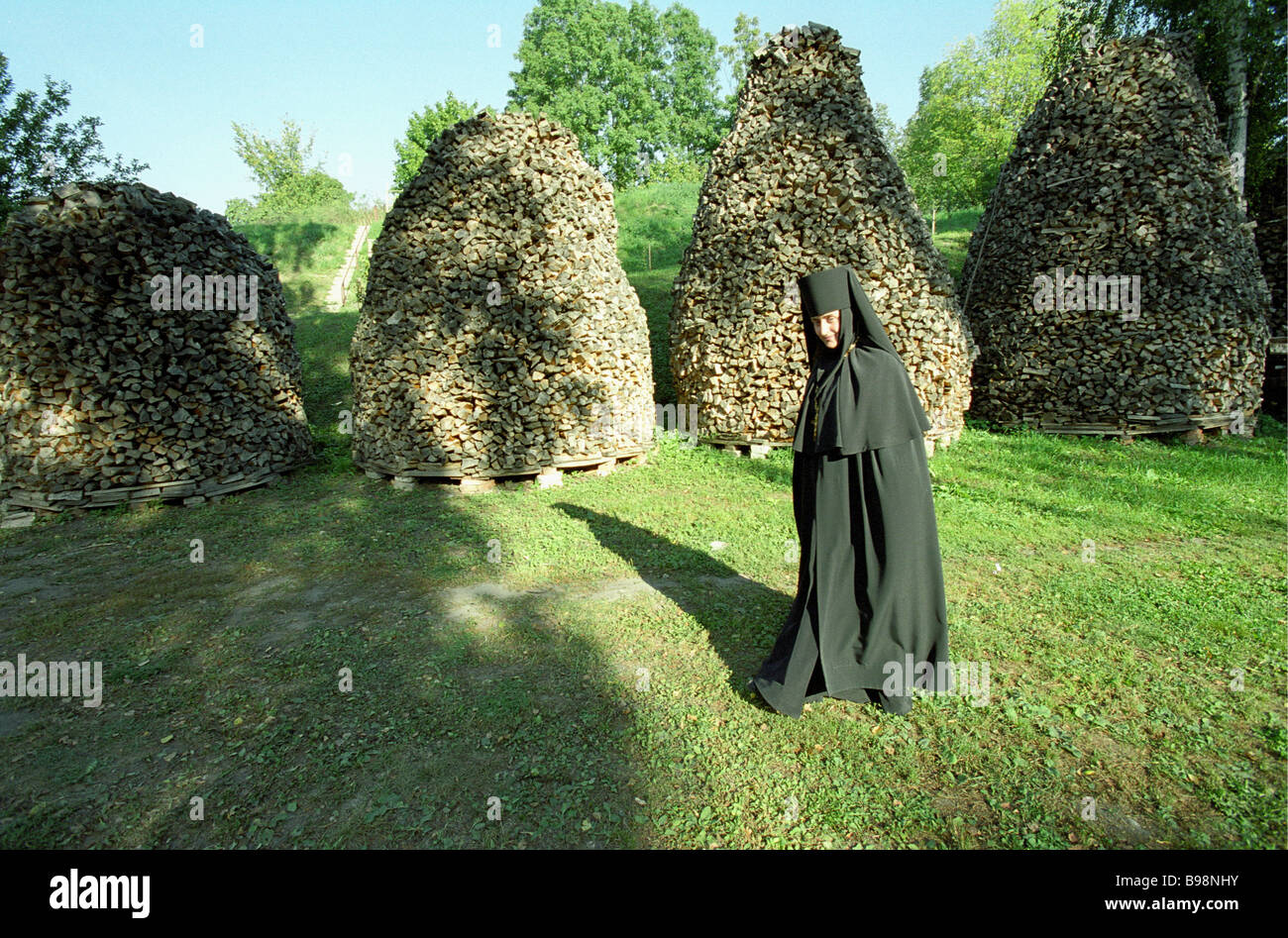 At the Nunnery of the Nativity of Our Lady Brest Belarus - Stock Image