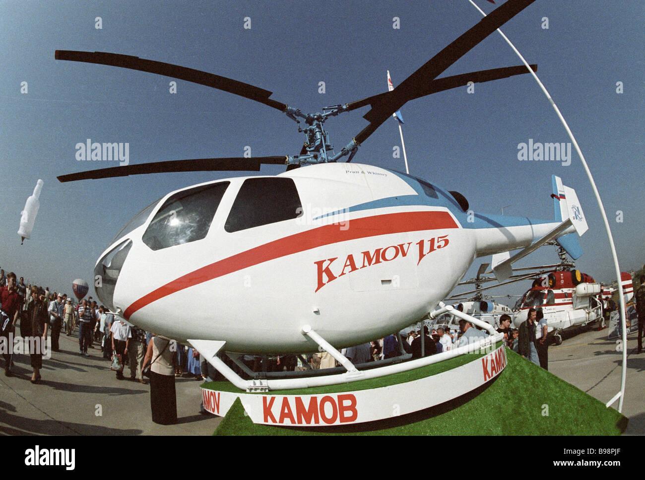 Kamov Ka 115 Helicopter Of Kamov Design Bureau On Display At Third