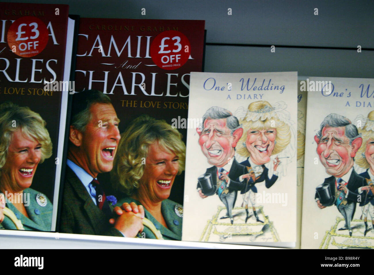 Books about the love story of Prince Charles and Camilla Parker Bowles - Stock Image