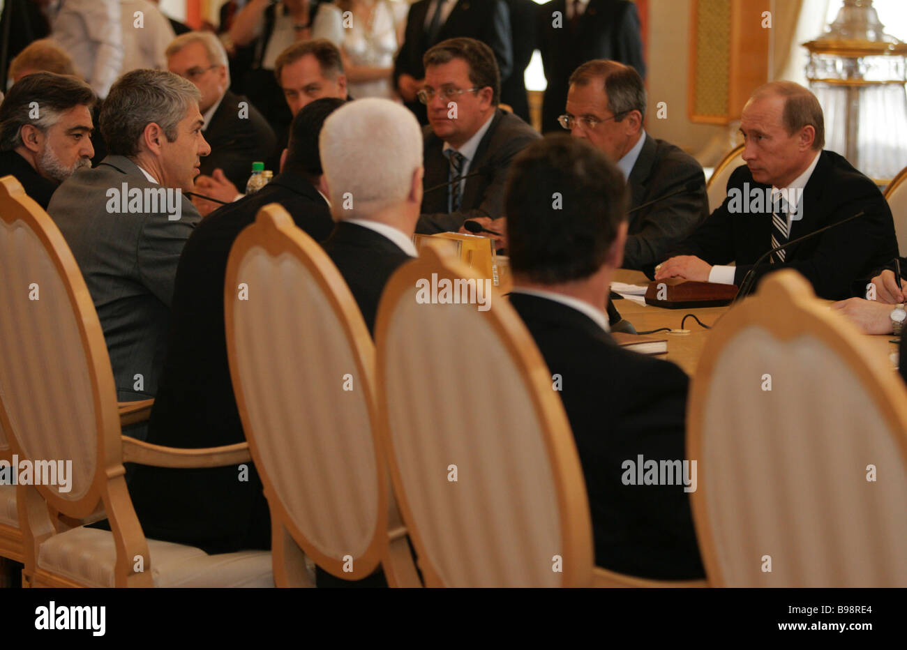 Russian Portuguese talks were held in the Kremlin - Stock Image