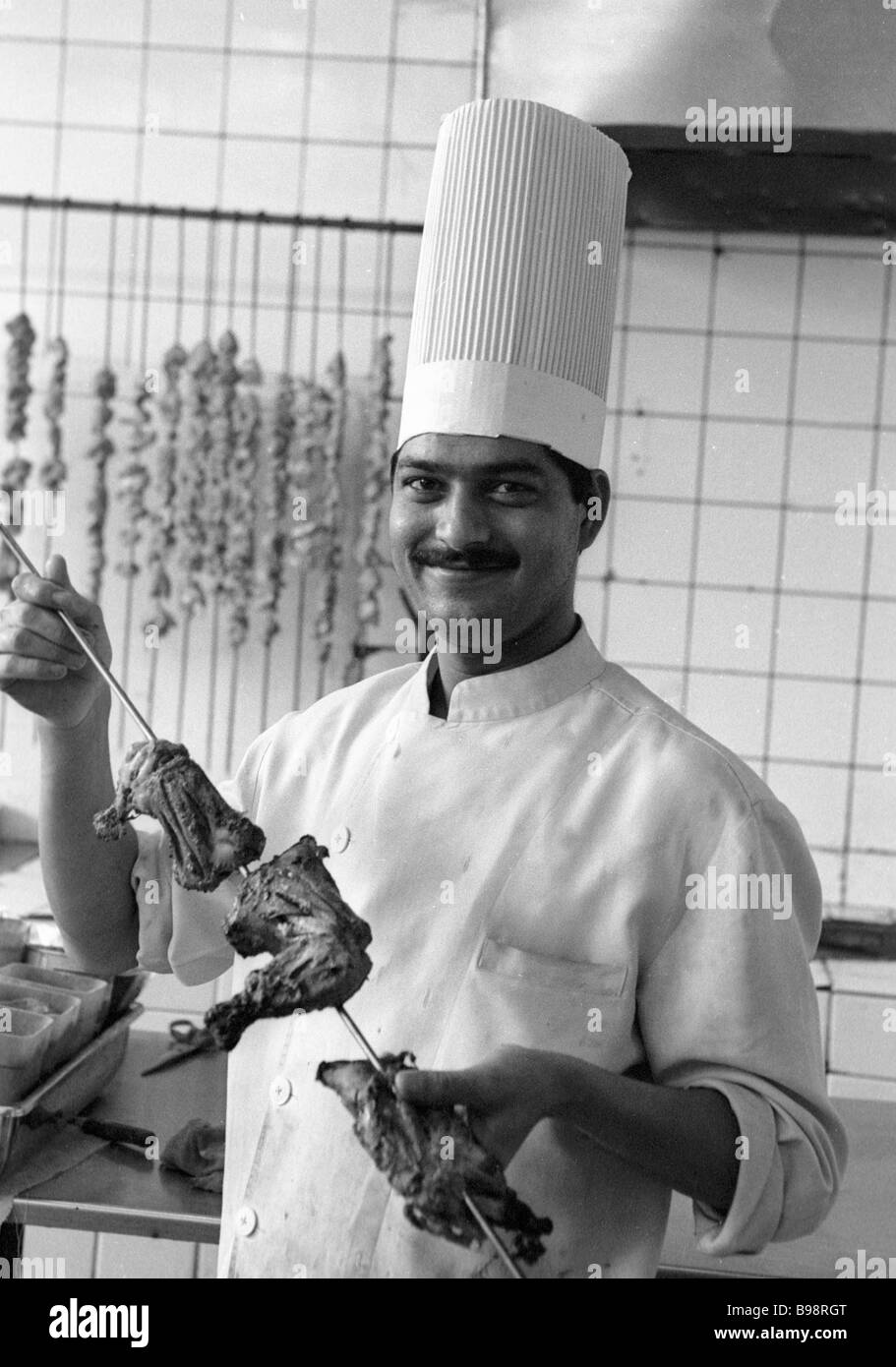 Indian Chef Black And White Stock Photos Images Alamy
