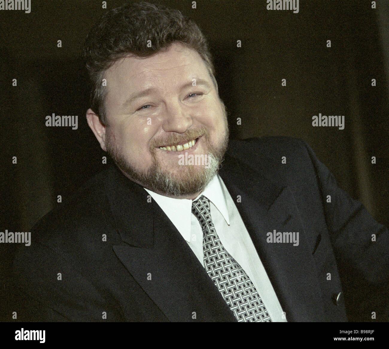 Variety showman Mikhail Yevdokimov - Stock Image