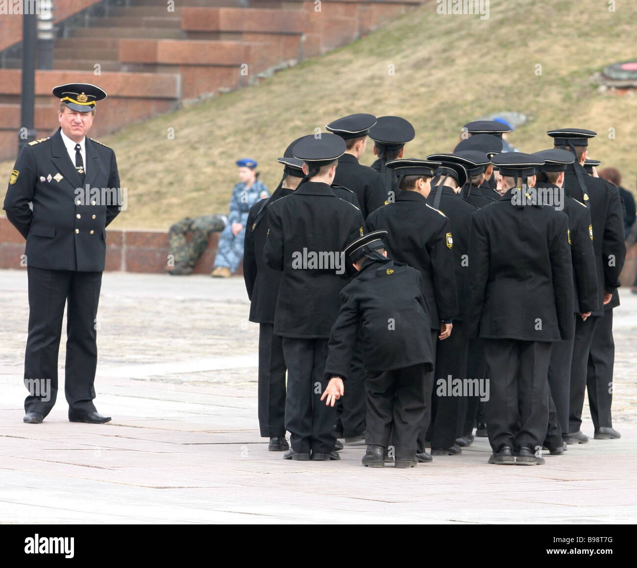Members of patriotic service clubs educational institutions and Cadet schools students at the gala parade - Stock Image