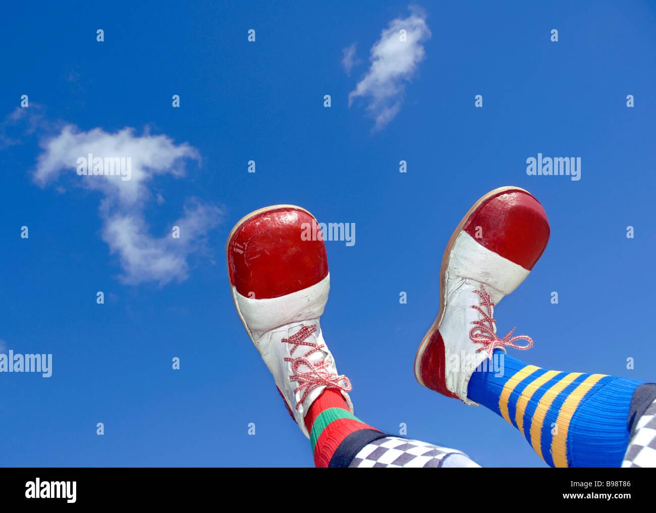 Clowns feet - Stock Image